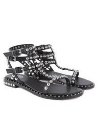 Ash Play Studded Sandals - Black