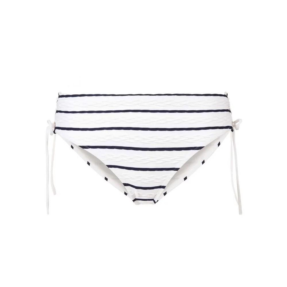 Dubrovnik Tie Side High Waisted Bottom - Blue & White