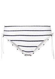 HEIDI KLEIN Dubrovnik Tie Side High Waisted Bottom - Blue & White