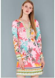 Hale Bob Magda Jersey Dress - Coral