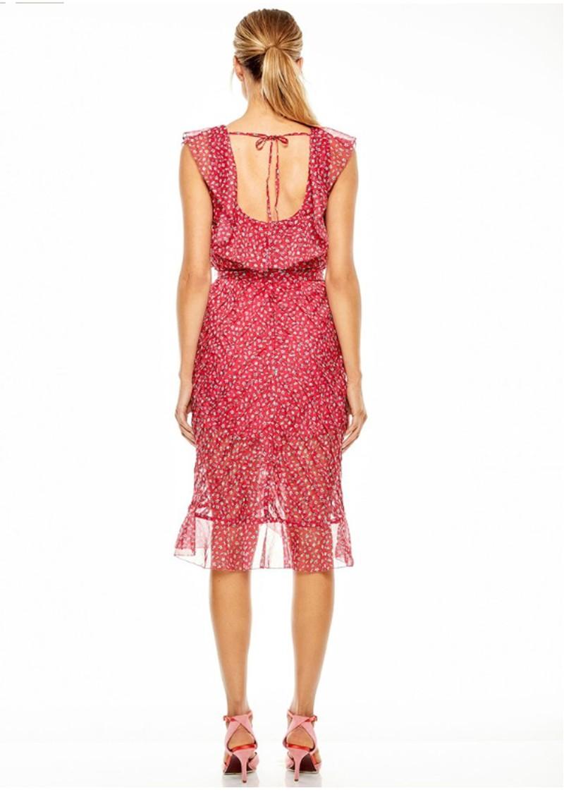 TALULAH Promise Midi Dress - Pink Ditsy main image