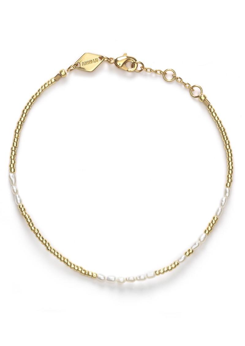ANNI LU Asym Pearl Bracelet - White Smoke main image