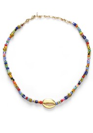 ANNI LU Alaia Cowry Shell Necklace - Mix