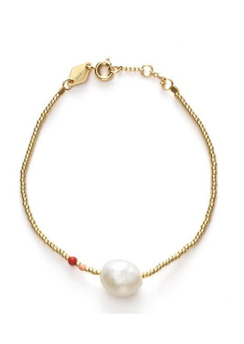 ANNI LU Baroque Pearl Bracelet - Hot Coral  main image