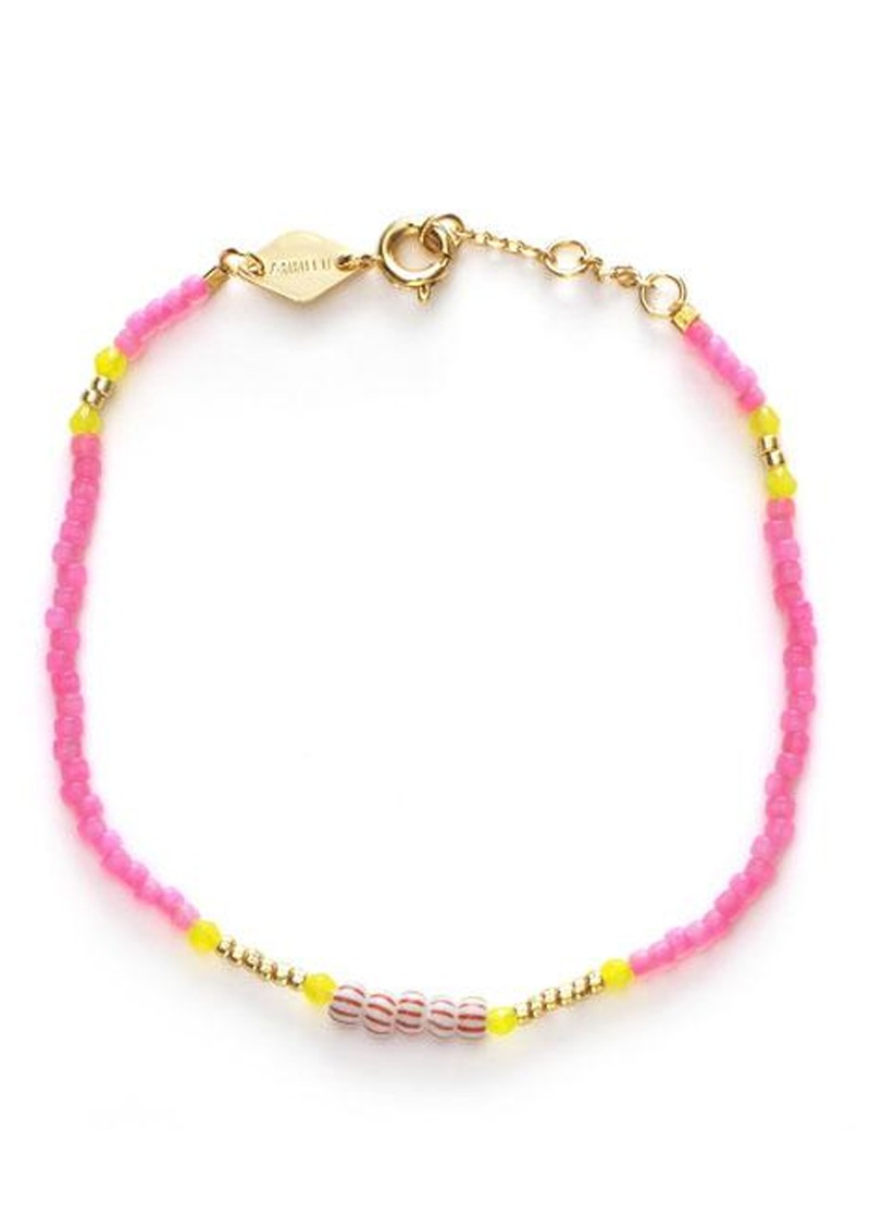 ANNI LU Peppy Bracelet - Geranium Pink  main image