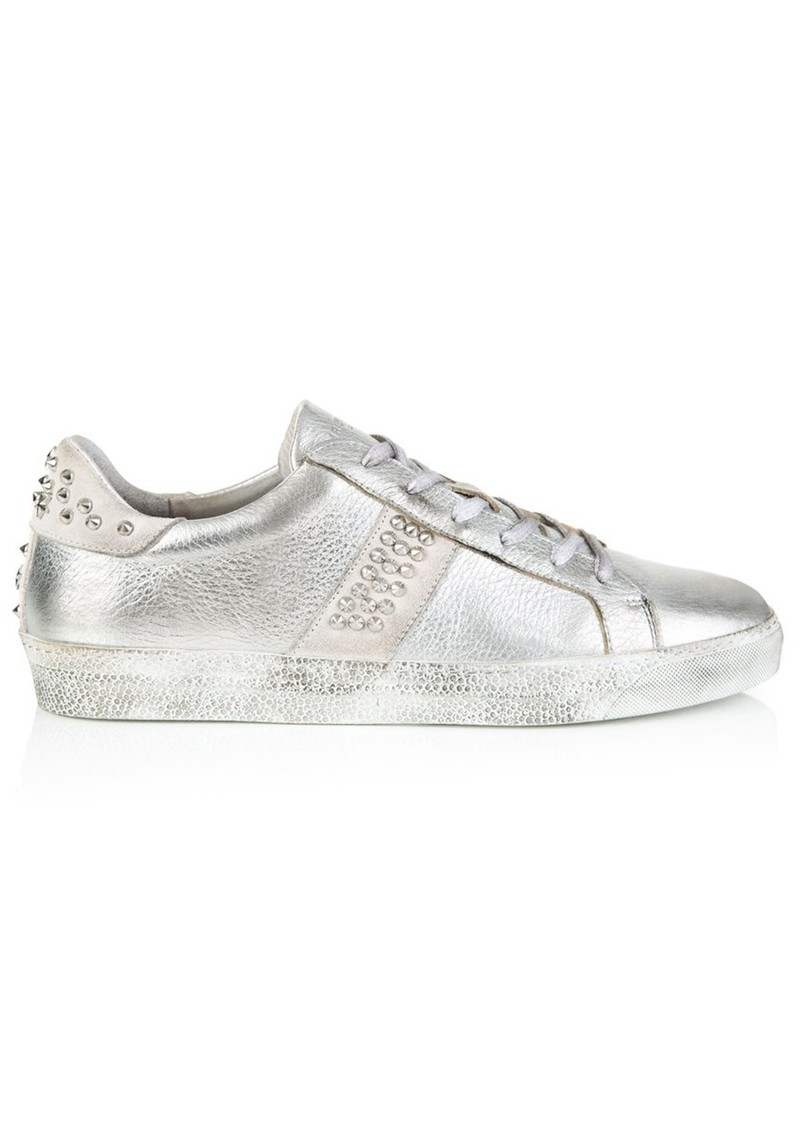 AIR & GRACE Cru Studded Metallic Trainers - Silver main image