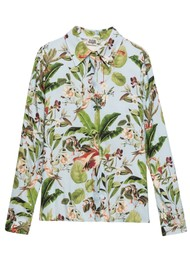 Twist and Tango Philippa Shirt - Blue Flamingo