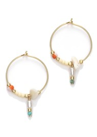 ANNI LU Hanalei Hoop Earrings - Blonde