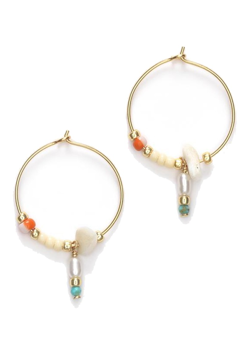 ANNI LU Hanalei Hoop Earrings - Blonde main image