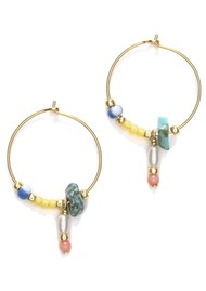 ANNI LU Hanalei Hoop Earrings - Pale Banana