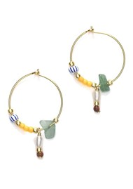 ANNI LU Hanalei Hoop Earrings - Sunflower