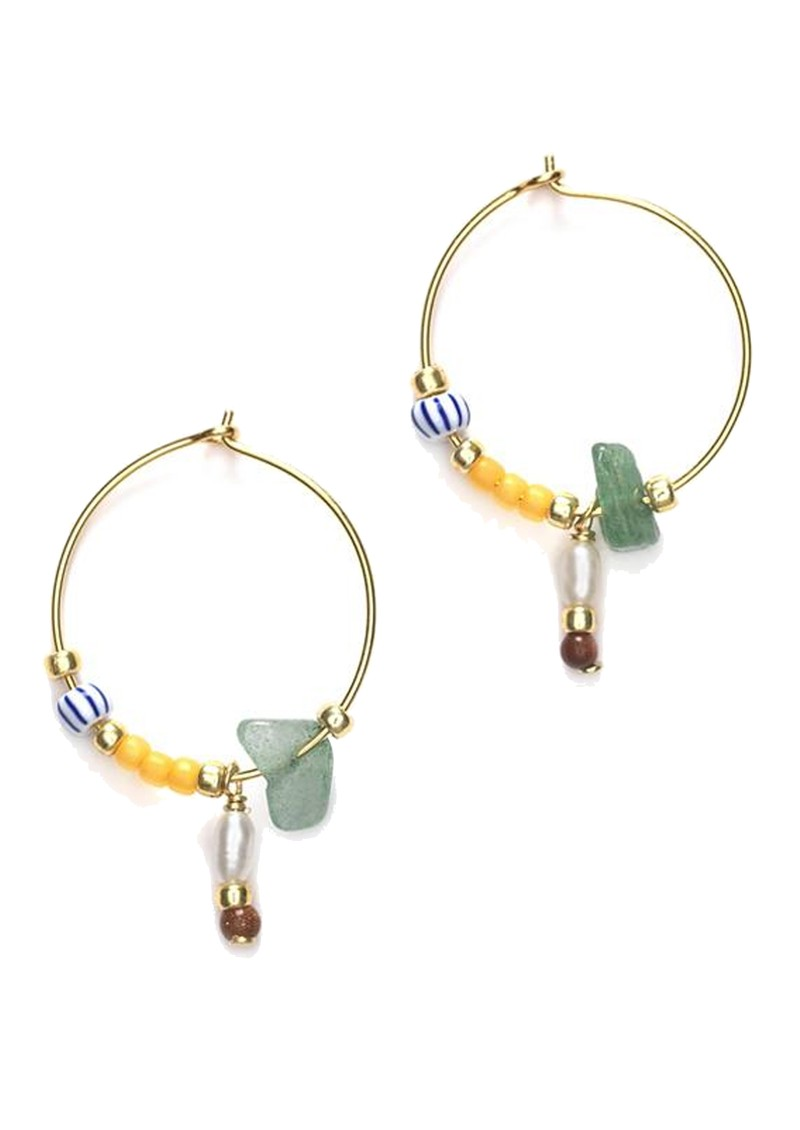 ANNI LU Hanalei Hoop Earrings - Sunflower main image