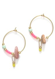 ANNI LU Hanalei Hoop Earrings - Bubblegum