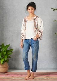Star Mela Fabiana Embroidered Jacket - Ecru Multi