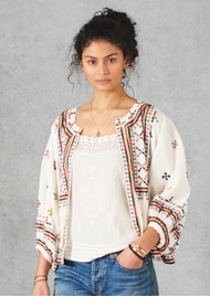 9fd2442d9d6 Star Mela Fabiana Embroidered Jacket - Ecru Multi