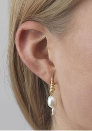 ANNI LU Turet Shell Baroque Pearl Earrings - Gold