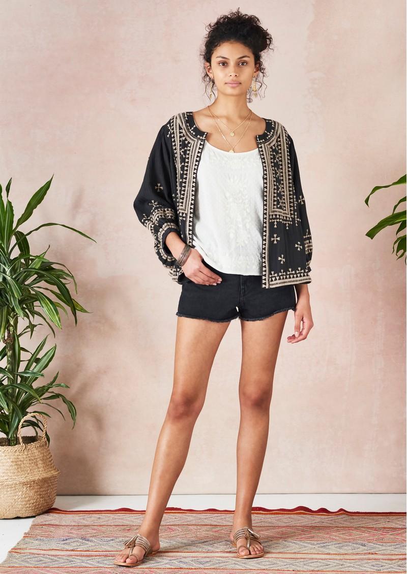 Star Mela Fabiana Embroidered Jacket - Black Beige main image