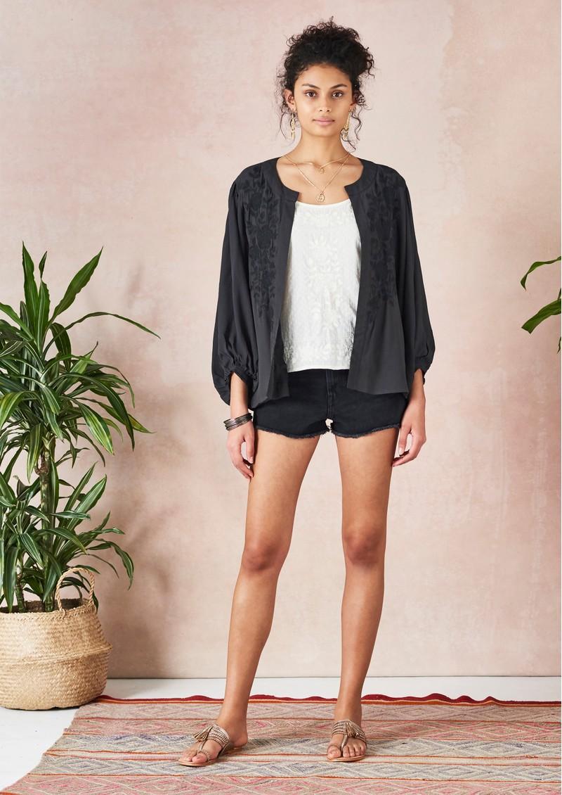 Star Mela Alise Embroidered Jacket - Faded Black main image