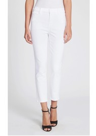 J Brand Ruby High Rise Cropped Cigarette Jeans - Blanc