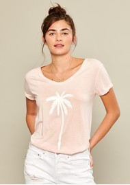 SOUTH PARADE Valerie Pink Palm T-shirt - Pink
