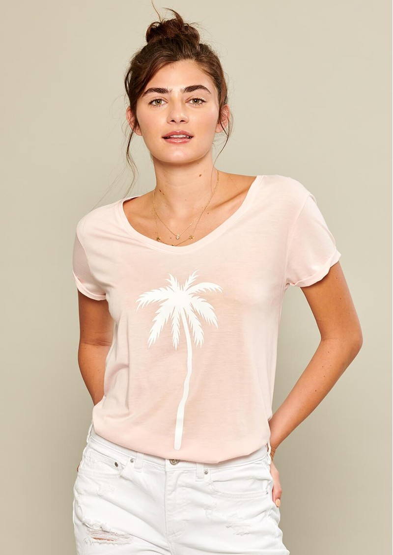 SOUTH PARADE Valerie Pink Palm T-shirt - Pink main image
