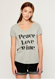 SOUTH PARADE Valerie Peace, Love, Wine T-Shirt - Grey