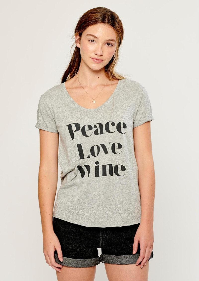 SOUTH PARADE Valerie Peace, Love, Wine T-Shirt - Grey main image