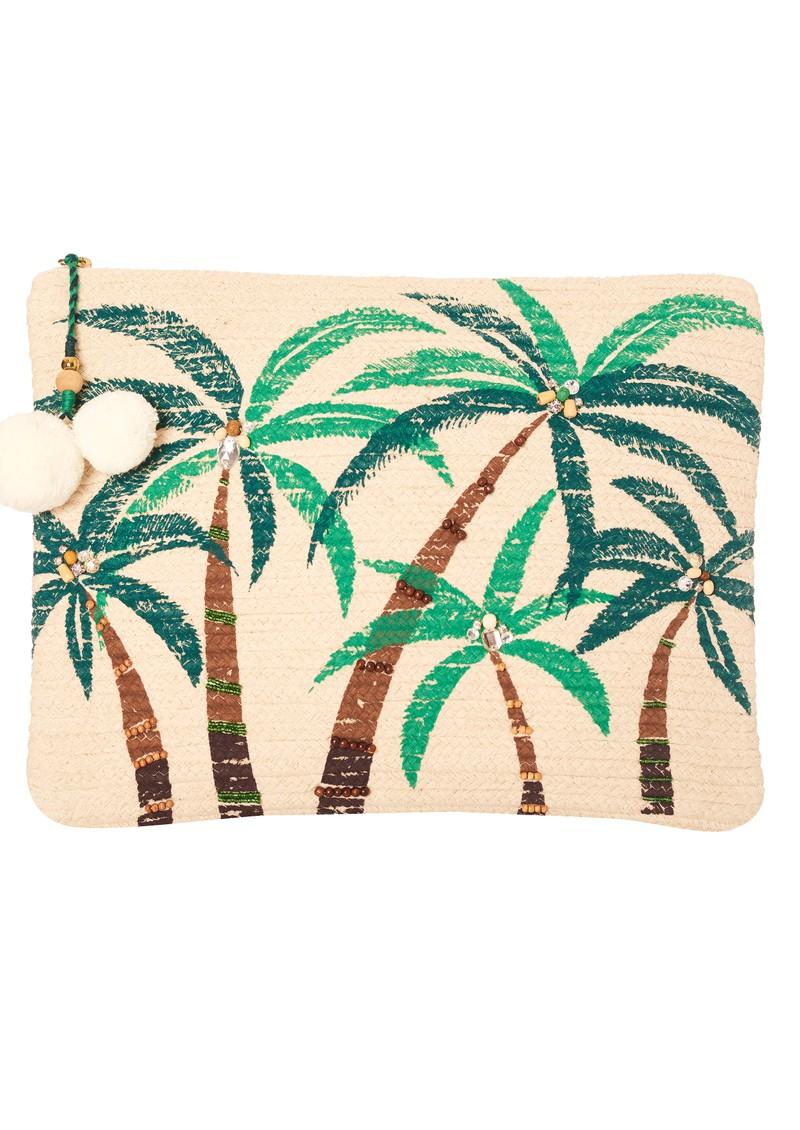 Star Mela Zoie Clutch Bag - Palm main image