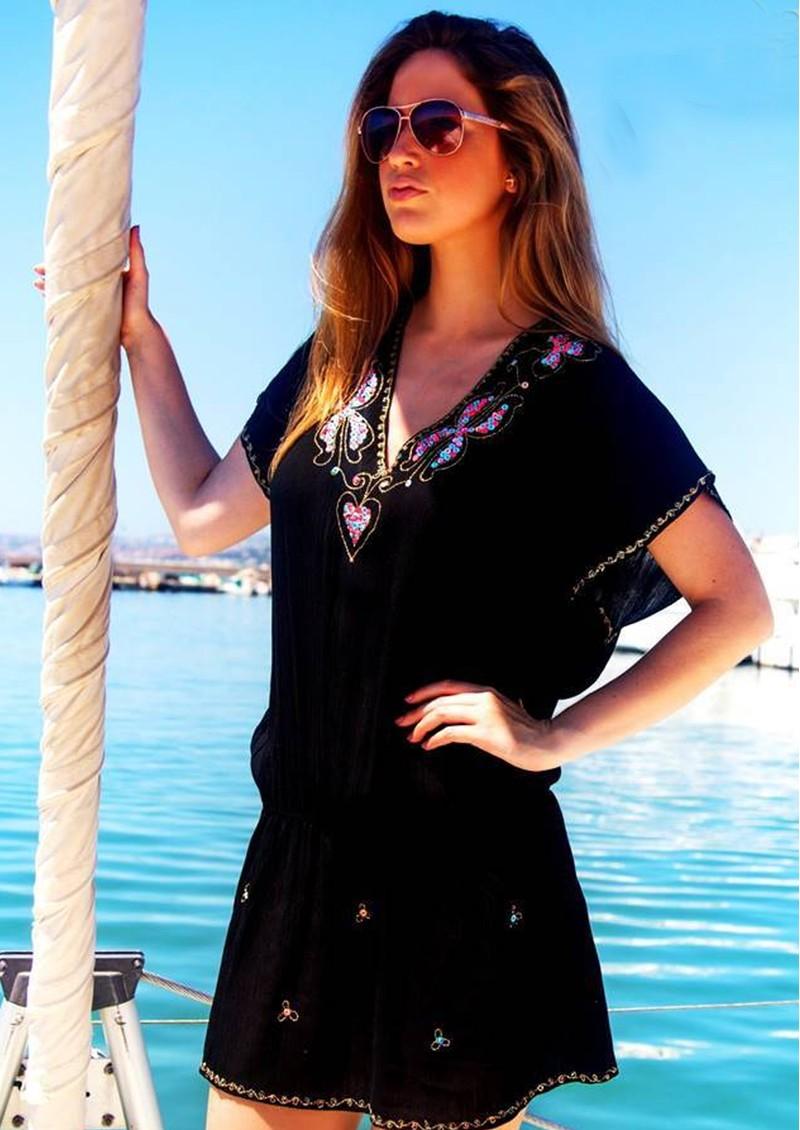 LINDSEY BROWN Paloma Drop Waist Dress - Black main image