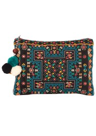 Star Mela Tasla Pom Pom Clutch - Black & Multi