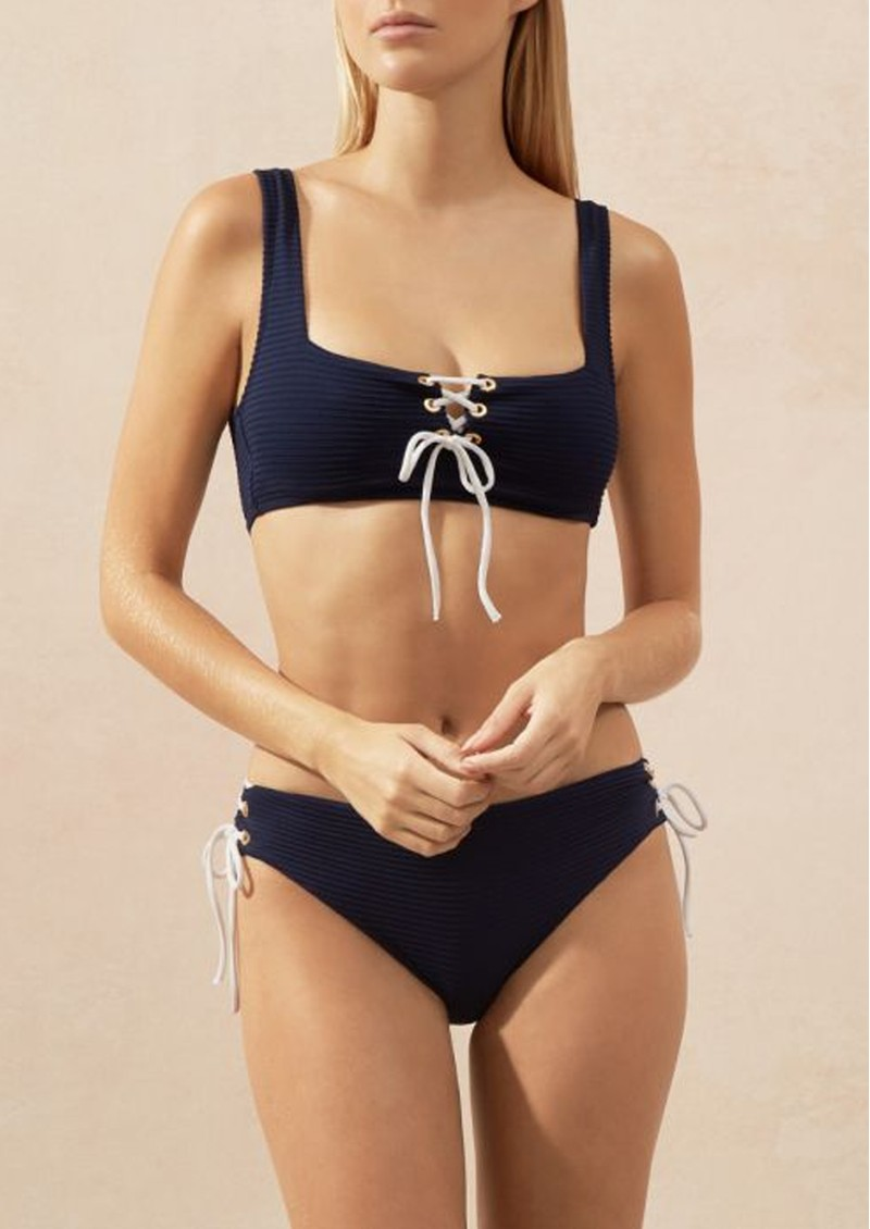 HEIDI KLEIN Carlisle Bay Tie Side High Waisted Bottoms - Navy main image