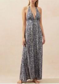 HEIDI KLEIN Kenya Halterneck Maxi Dress - Snake Print