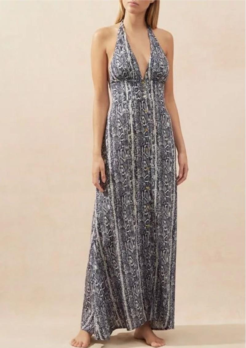 HEIDI KLEIN Kenya Halterneck Maxi Dress - Snake Print main image