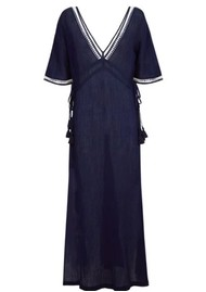 HEIDI KLEIN Carlisle Bay Lace Trim Maxi Dress - Navy