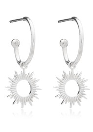 RACHEL JACKSON Sunrays Mini Hoops - Silver