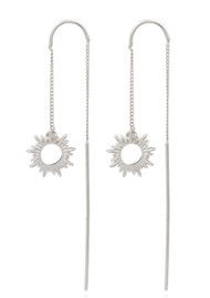 RACHEL JACKSON Sunrays Threader Earrings - Silver