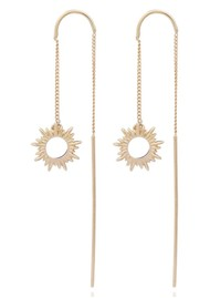 RACHEL JACKSON Sunrays Threader Earrings - Gold