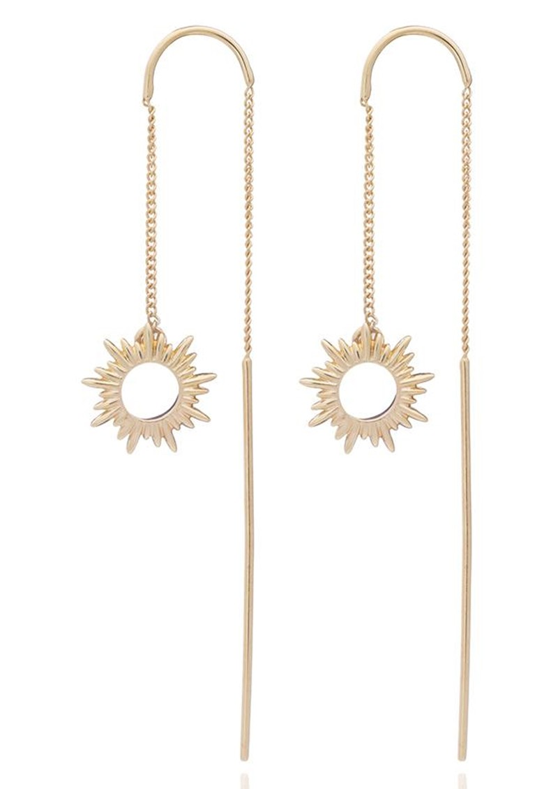 Sunrays Threader Earrings - Gold main image