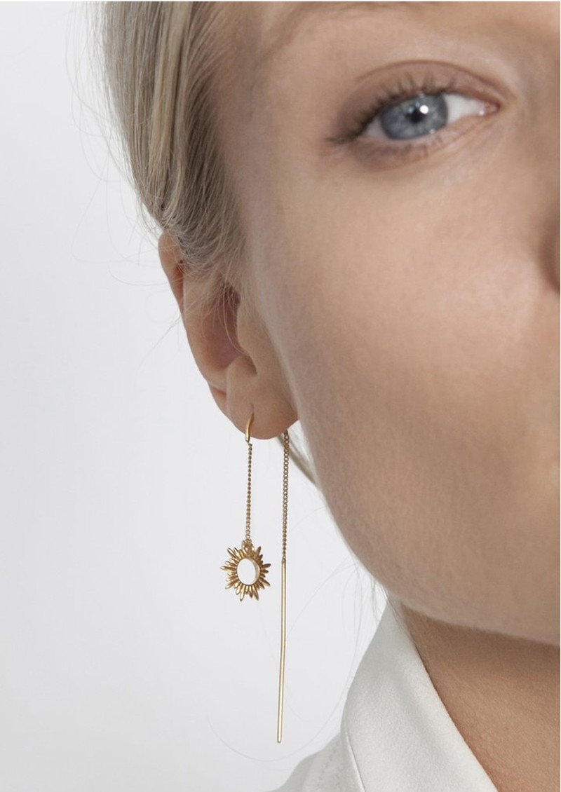 RACHEL JACKSON Sunrays Threader Earrings - Gold main image