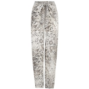 Slouch Patterned Tapered Trouser - Blanco Neve