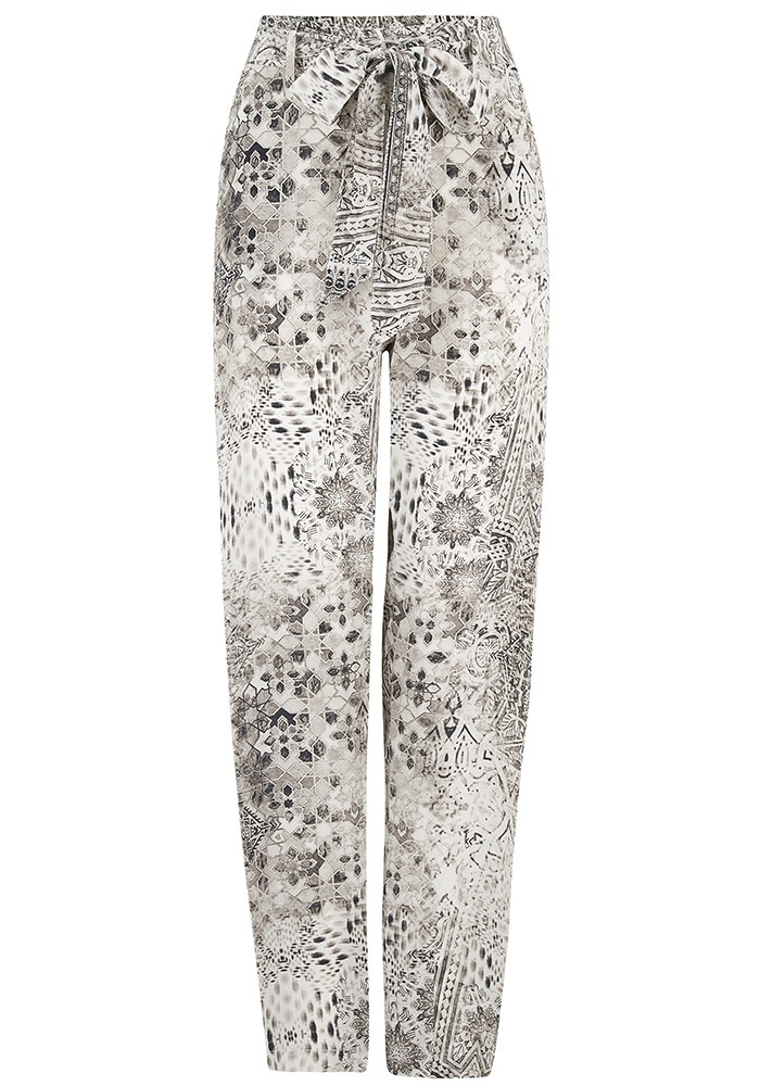 INOA Slouch Patterned Tapered Trouser - Blanco Neve main image