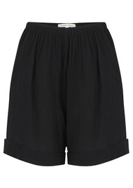 LINDSEY BROWN Sicily Cotton Shorts - Black