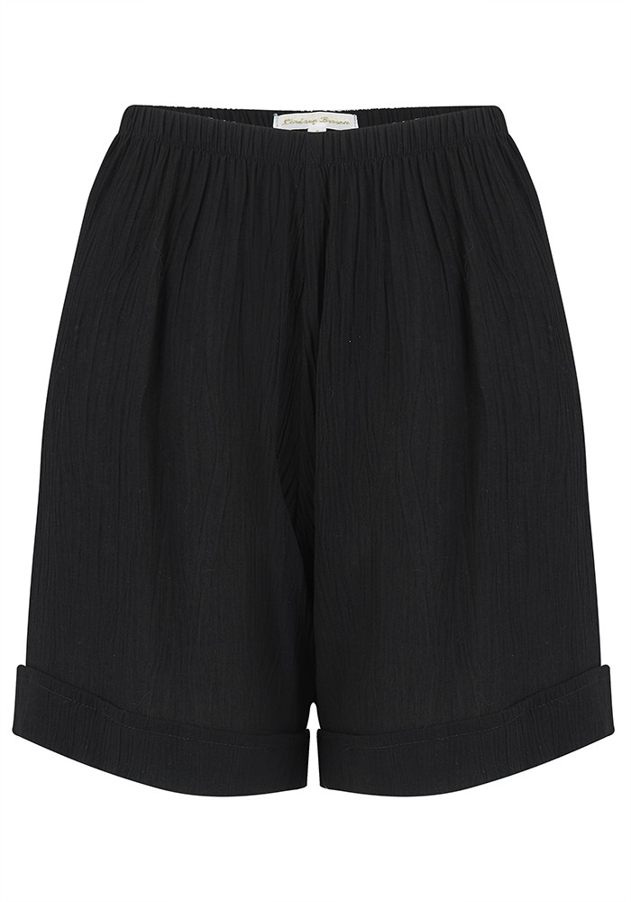 LINDSEY BROWN Sicily Cotton Shorts - Black main image