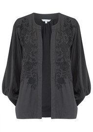 Star Mela Alise Embroidered Jacket - Faded Black
