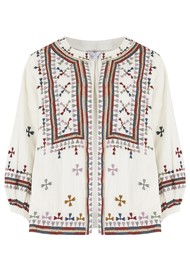 Star Mela Fabiana Embroidered Jacket - Ecru Multi