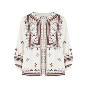 Fabiana Embroidered Jacket - Ecru Multi