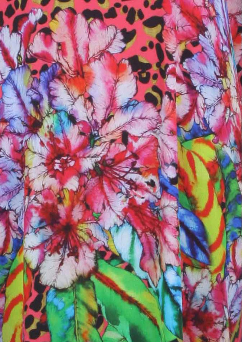 Blank Chris Printed Kaftan Dress - Multi main image