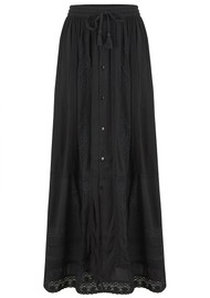 Star Mela Stella Embroidered Maxi Skirt - Faded Black