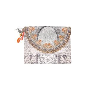 Embellished Clutch Bag - Blanco Neve