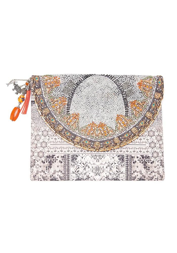 INOA Embellished Clutch Bag - Blanco Neve main image